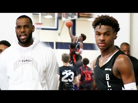 LeBron James Nearly Witnessed Bronny James Almost Dunk on MULTIPLE Defenders!