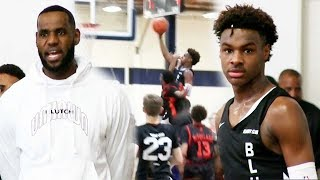 Download LeBron James Nearly Witnessed Bronny James Almost Dunk on MULTIPLE Defenders! Mp3 and Videos