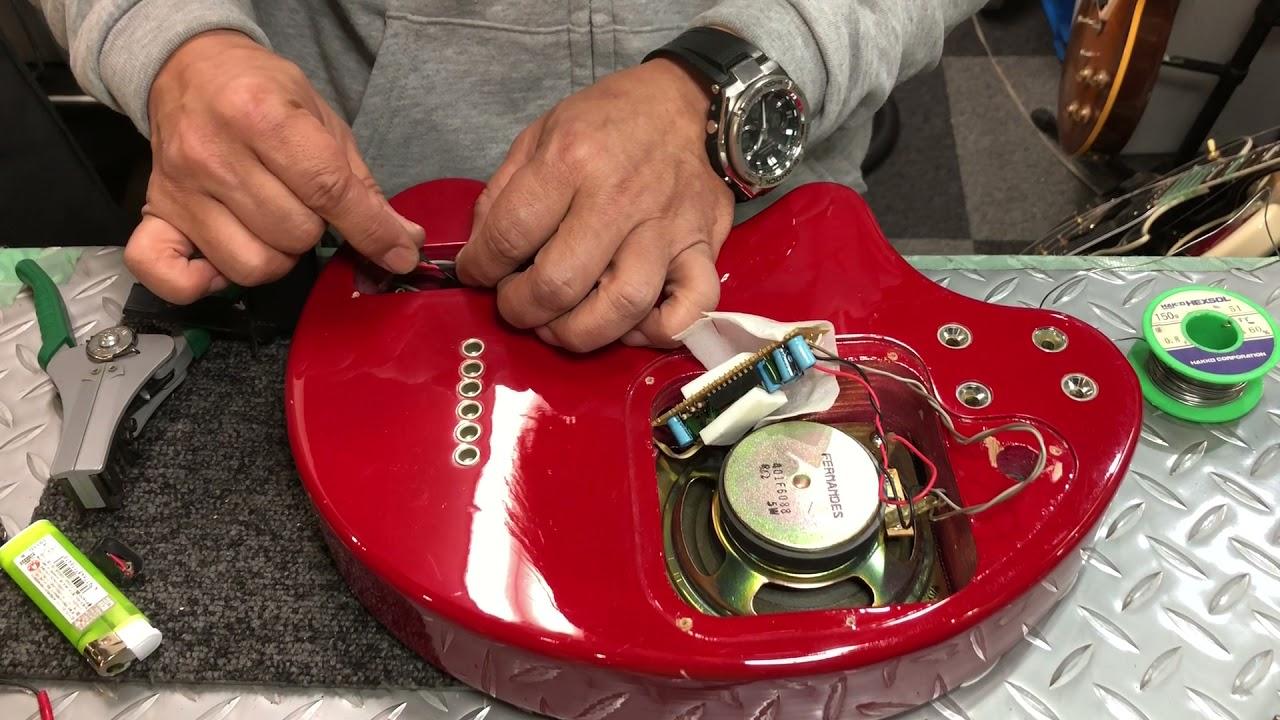 【川越のT.S.G.楽器店】Fernandes ZO-3 サーキットメンテナス「バッテリースナップ交換」