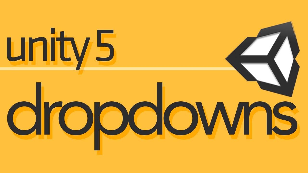 Unity 5 UI Tutorial - Dropdowns [#1 - Manual Setup]