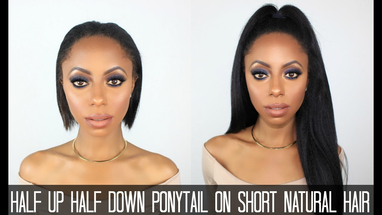 Half Up Half Down Ponytail On Short Hair Jessica Pettway Youtube
