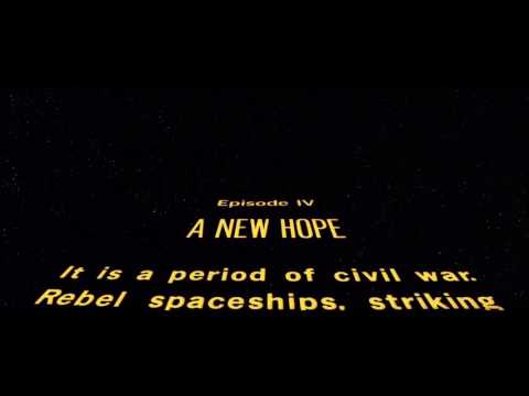 A New Hope Opening Sequence HD
