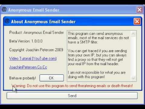Anonymous Email Sender - YouTube