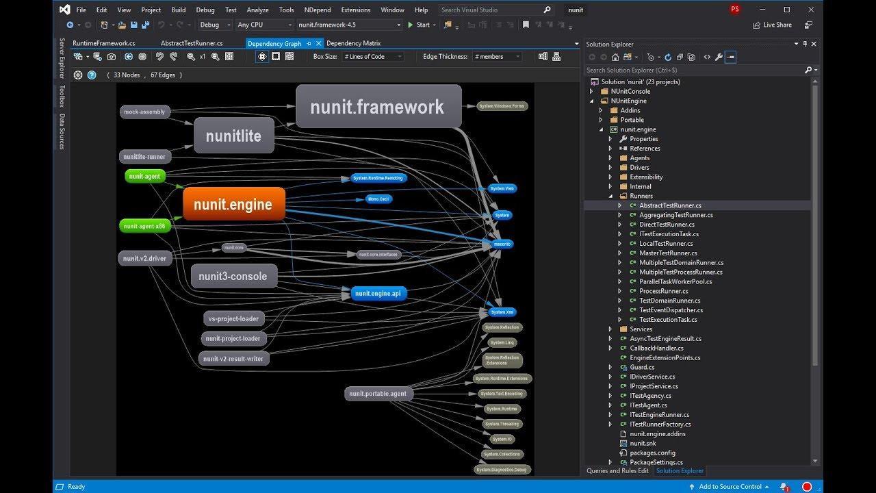 Visual Studio - Explore existing  net code architecture