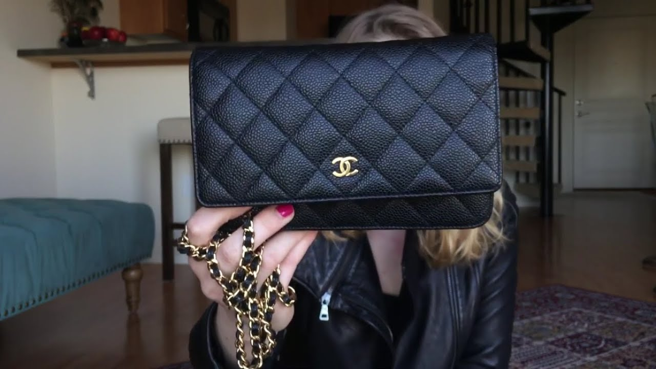 2775cd57d76a Chanel Wallet on Chain Review and What's in My Bag - YouTube