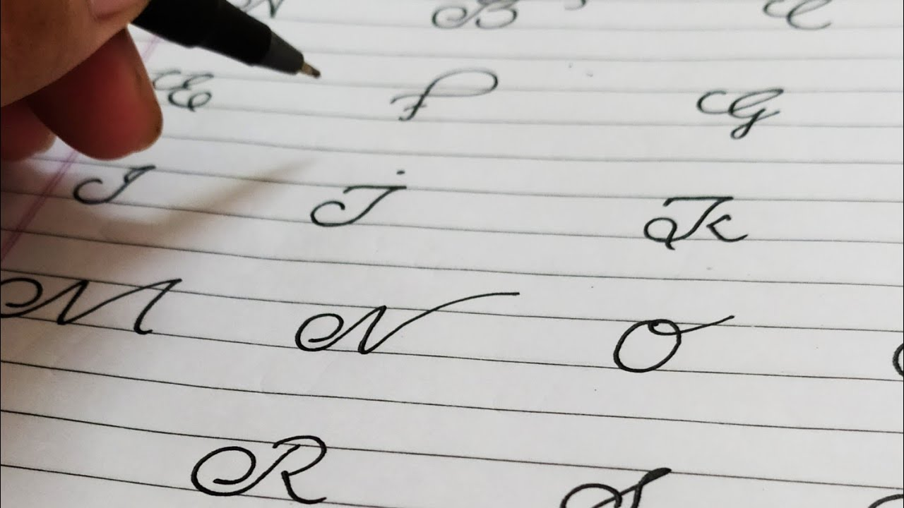capital letters cursive handwriting||capital letters a to ...
