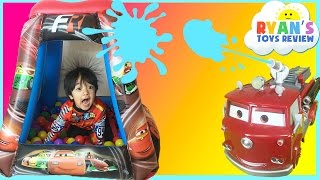disney cars ball pits surprise toys lightning mcqueen remote control cars kids video