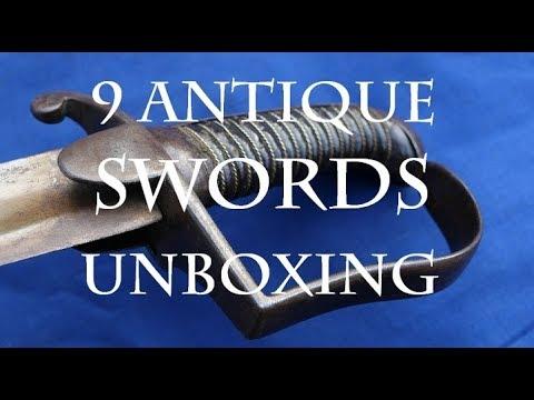 Antique Sword Unboxing - 9 Swords!