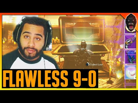 DESTINY TRIALS OF OSIRIS on Burning Shrine w/ Flawless loot (9-0 trials of osiris flawless run)