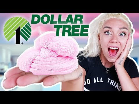 DOLLAR TREE SLIME CHALLENGE! Making Slime With Only $1 Ingredients!