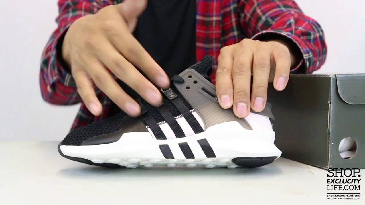 huge selection of 5f2dc cccb4 Womens Adidas Equiment Support Advance Pink - Black Unboxing Video at  Exclucity
