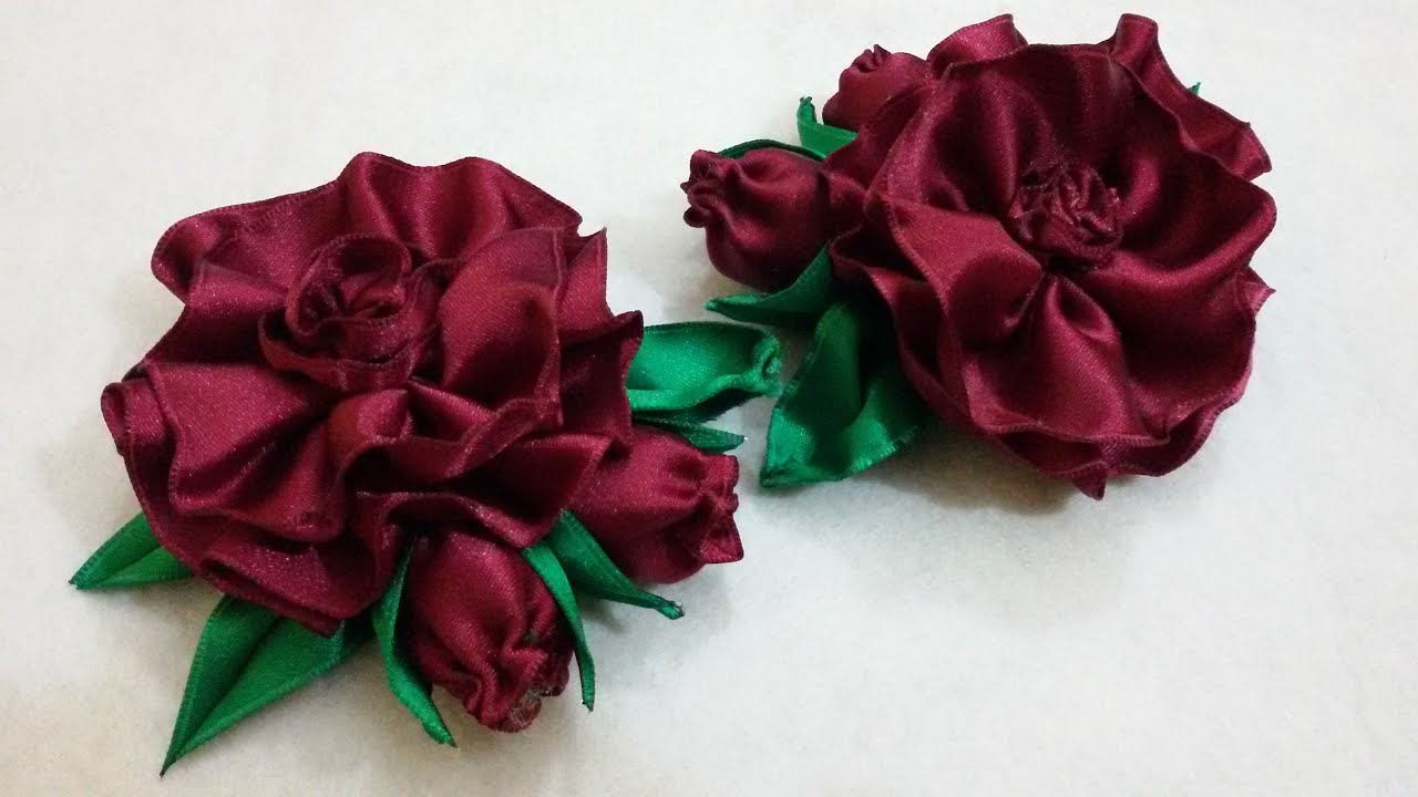 craft ideas with satin ribbon d i y vintage wired satin flower myindulzens 6345