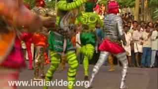 Pulikali, tiger dance, folk, onam festival, leopard dance, Thrissur, Kerala, India