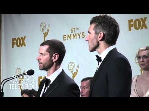 D.B. Weiss and David Benioff @2015 Primetime Emmys - EMMYTVLEGENDS.ORG