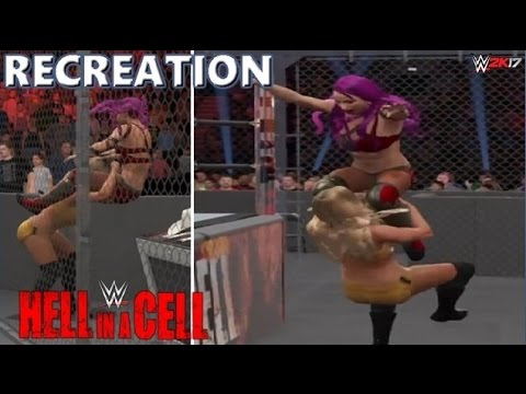WWE 2K17 RECREATION: SASHA BANKS VS CHARLOTTE | HELL IN A CELL 2016 HIGHLIGHTS