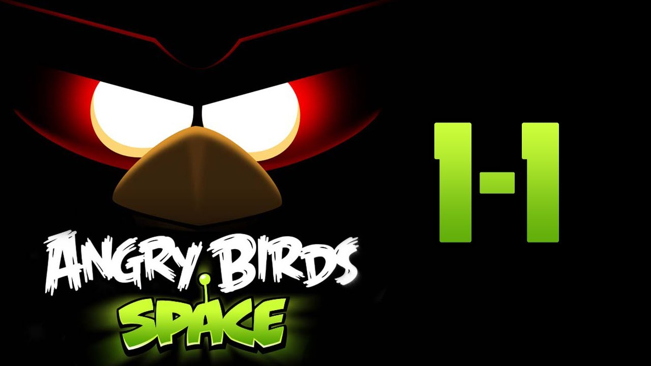 angry birds space level 1 1 3 star walkthrough youtube