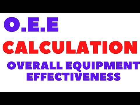 OEE - OVERALL EQUIPMENT EFFECTIVENESS ~ LEAN MANUFACTURING