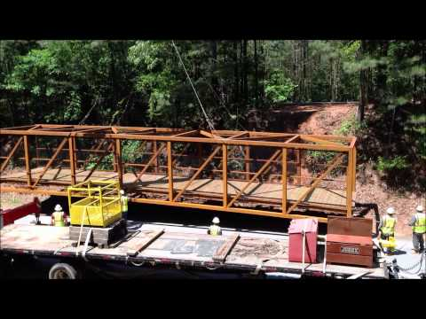 Rockdale River Trail - Phase F, Bridge Installation Video