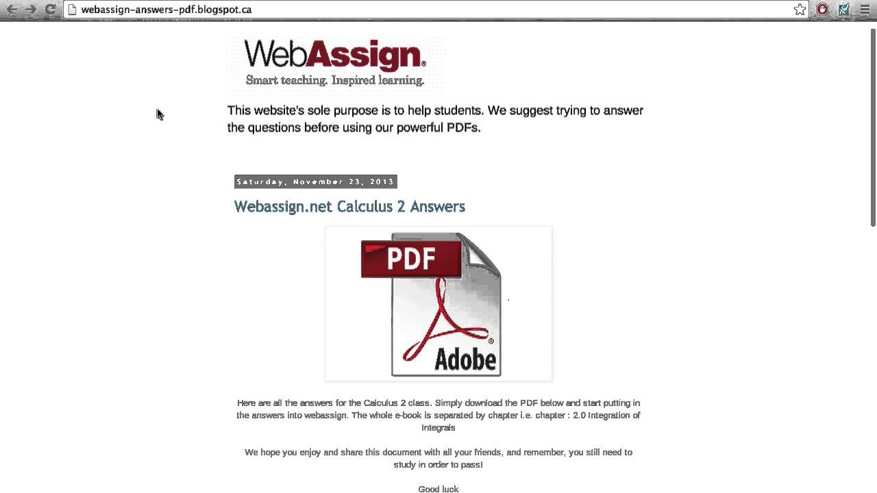 Ncsu web assign