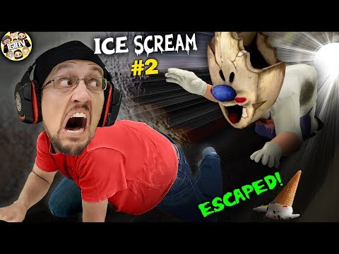 ESCAPING the ICE SCREAM MAN!  CHUBBY ONES AREN'T SAFE!  (FGTeeV #2)