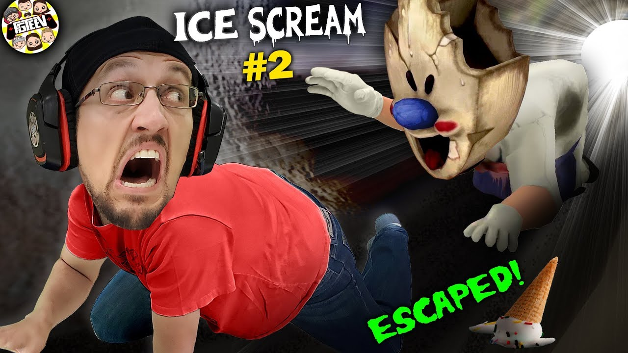 ESCAPING the ICE SCREAM MAN!  CHUBBY ONES ARENT SAFE!  (FGTeeV #2)