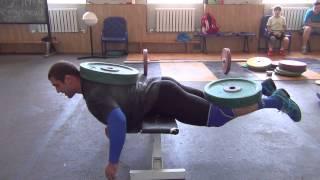 Klokov Dmitry & Rigert V   new exercise for back  4.07.2013
