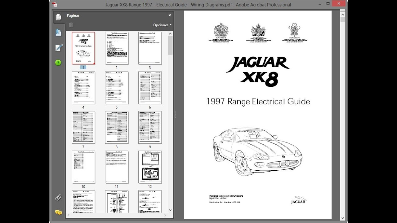 Jaguar Xk8 Range 1997 - Electrical Guide - Wiring Diagrams