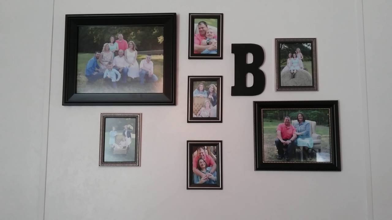 picture wall with dollar tree walmart frames