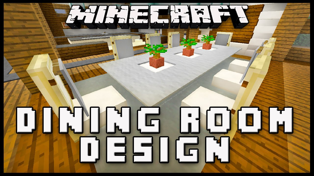 Minecraft: How To Make Dining Room Furniture (Modern House ...