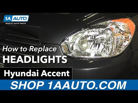 How to Replace Install Headlights 2007 Hyundai Accent