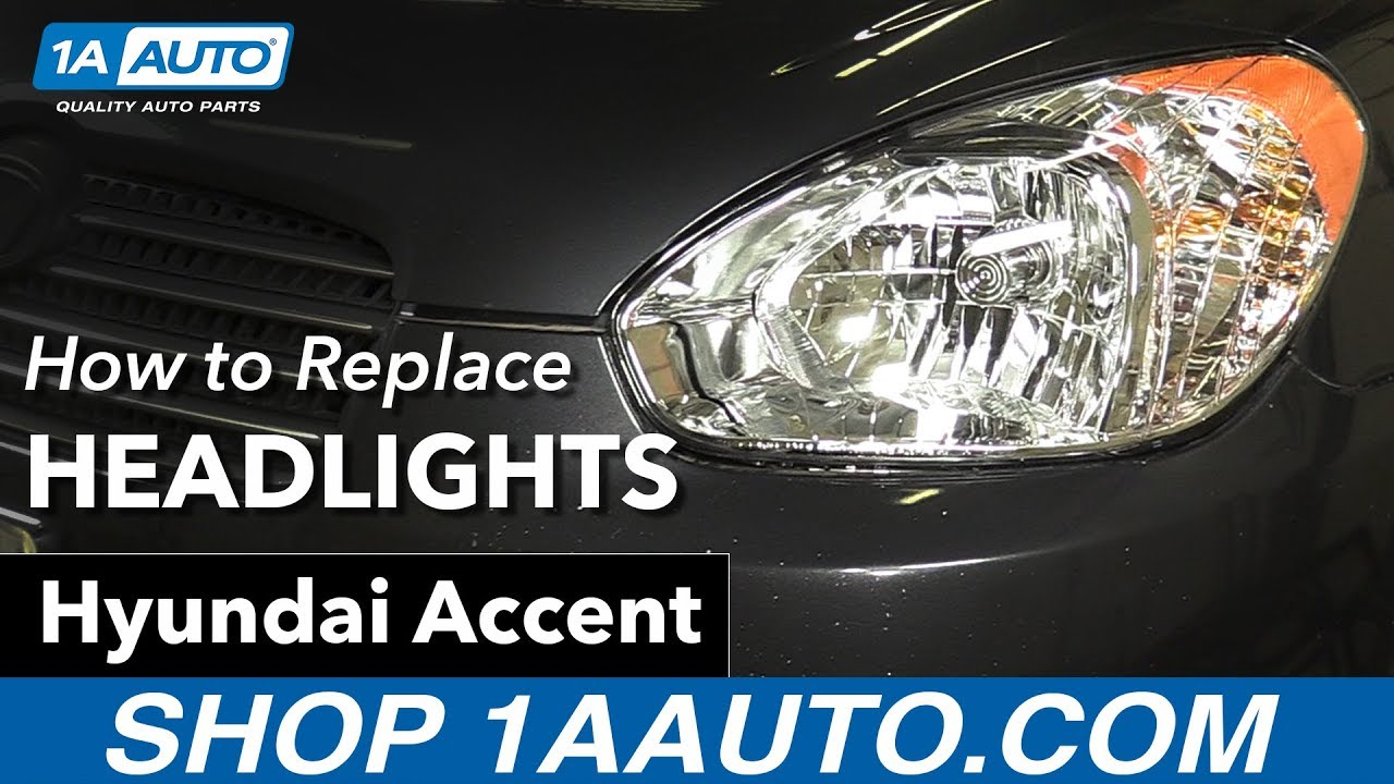 How To Replace Headlights 05 10 Hyundai Accent