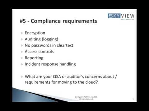 Top 10 Security and Compliance Considerations for Cloud Computing