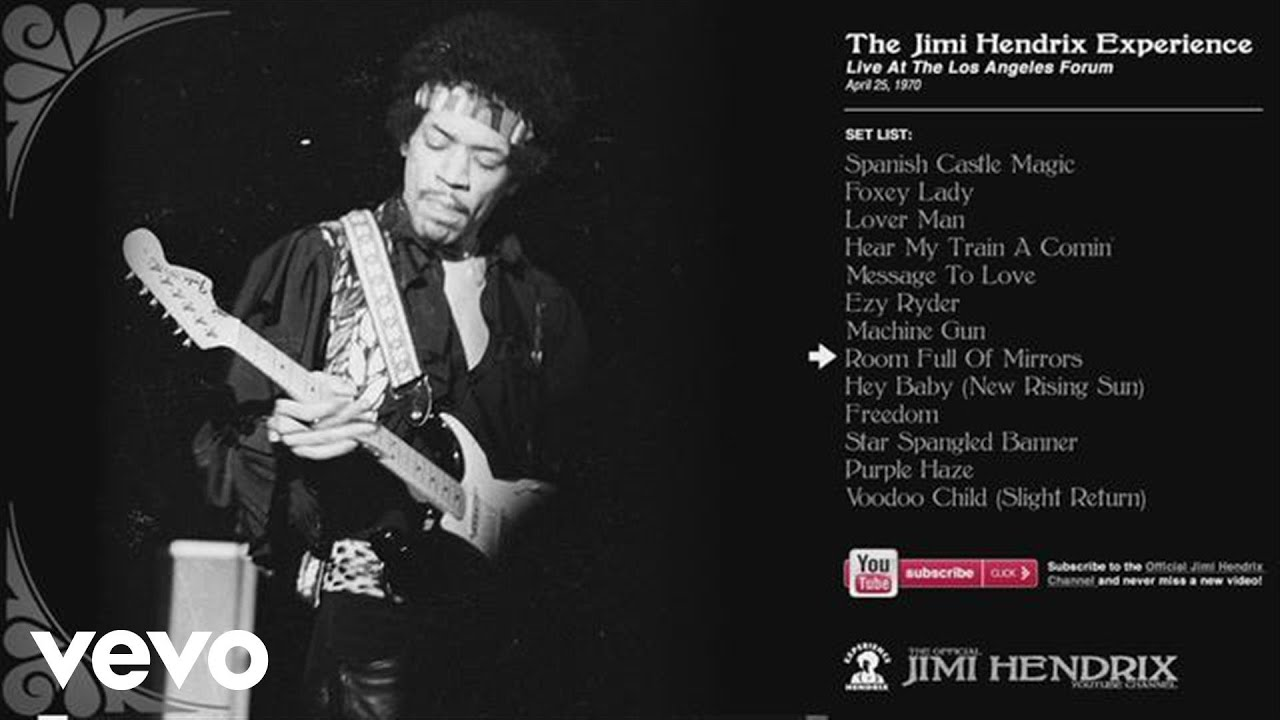 Jimi Hendrix Room Full Of Mirrors La Forum 1970 Youtube