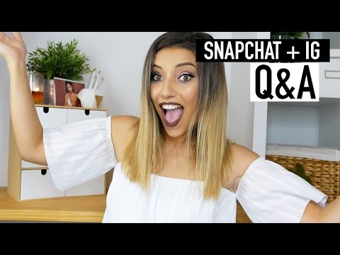 SNAPCHAT Q&A | FEELING OVERWHELMED + UNSAFE ON YOUTUBE?