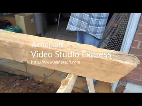 Refinishing A Barn Beam As A Mantel Youtube