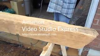 Refinishing A Barn Beam As A Mantel