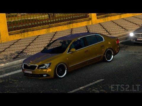 تحميل مود السيارة سكودا في لعبة euro truck simulator 2