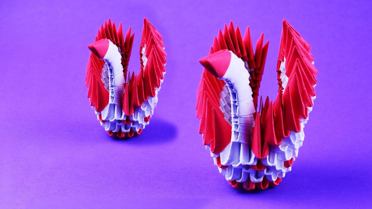 3D origami small swan tutorial ( model 1) - YouTube | 720x1280