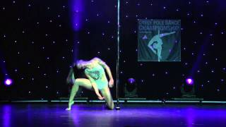 Maro - Runner Up Professional Division - Greek Pole Dance Championship 2015 by Rad Polewear