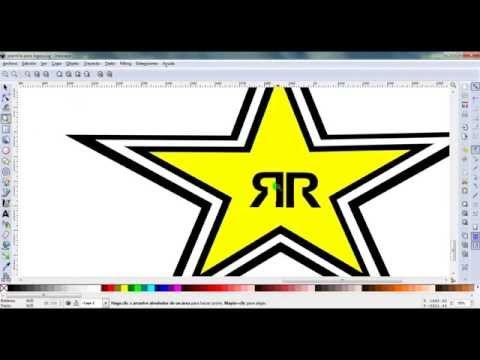 como hacer el logo de rockstar en inkscape