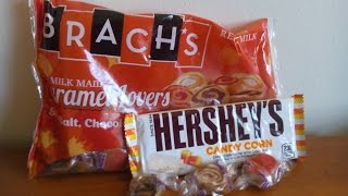 Sweet Treats Reviews - Hershey's Candy Corn White Chocolate Bar & Brach's Milk Maid Caramel Lovers