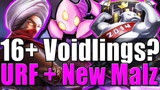 16+ VOIDLINGS? Urf + New Malzahar - League of Legends