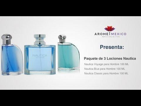 7ea02df6 Paquete de 3 Lociones Nautica (Voyage + Blue + Classic) - YouTube