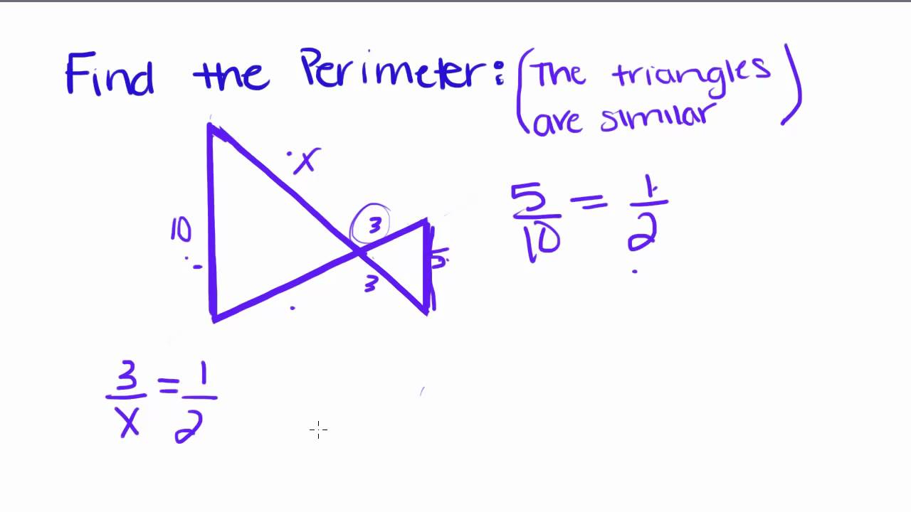 Introduction To Geometry  23  Perimeter And Similar Triangles