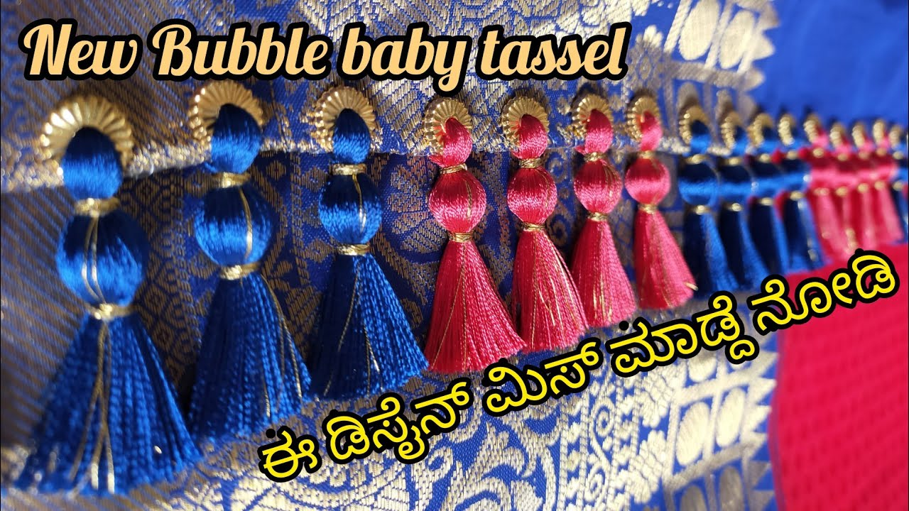 New Bubble baby tassel/ saree kuchu with beads for grand look