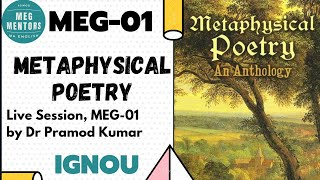 Lecture 01/P1 Metaphysical Poetry MEG 01 British Poetry by Dr Parmod Kumar IGNOU MA English