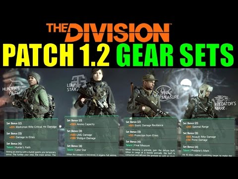The Division: NEW GEAR SETS Revealed! | Patch 1.2 Set Armor