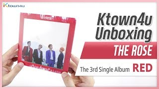 """Unboxing THE ROSE """"RED"""" the 3rd single album, 더 로즈  언박싱 Kpop Ktown4u thumbnail"""