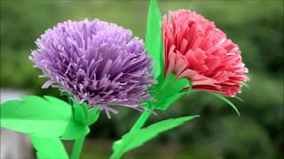 How Make Paper Flower :DIY CRAFT|Tutorial