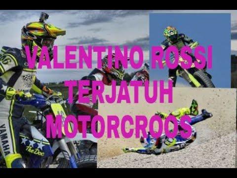 """Detik"""" Kecelakaan VALENTINO ROSSI Saat Latihan di MotorCroos, 25/05/2017"""